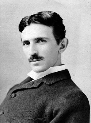 Nikola Tesla Portrait Poster by Napoleon Sarony