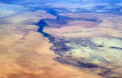Nile River From The Iss Poster by Science Source