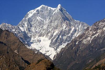 Nilgiri South, The Himalayas, Nepal Poster by Aidan Moran