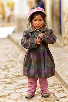 Nina In Cuzco Peru Poster by Gabriele Ardemagni
