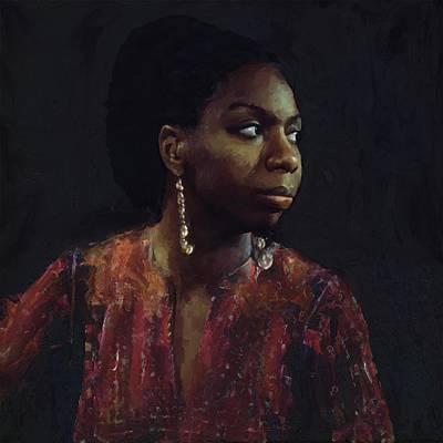 Nina Simone Poster by Les Allsopp