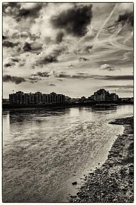 Nine Elms Across The Thames Tide Poster by Lenny Carter