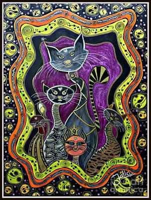 Nine Lives     Poster by Jolanta Anna Karolska