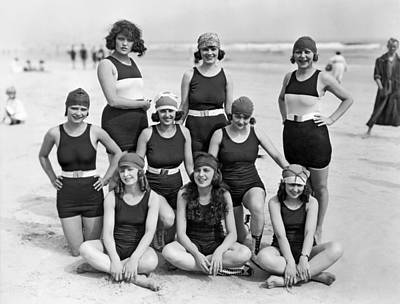 Nine Women In Bathing Suits Poster