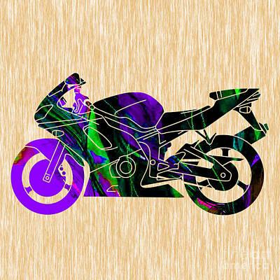 Ninja Bike Art Poster by Marvin Blaine