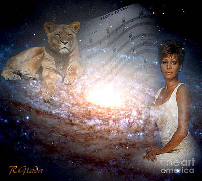Poster featuring the digital art Nippy The Graceful Lioness - Tribute Art By Giada Rossi by Giada Rossi