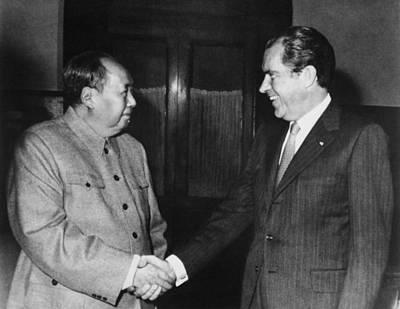 Nixon In China. President Nixon Meets Poster by Everett