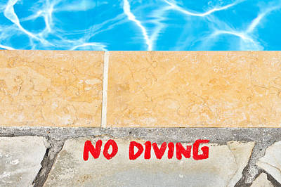 No Diving Poster by Tom Gowanlock