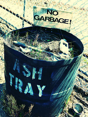 Poster featuring the photograph Ash Tray Steel Drum by Laurie Tsemak