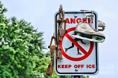 No Ice Skating Today Poster by Paul Ward