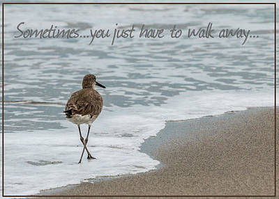 Sometimes You Just Have To Walk Away Poster by Patti Deters