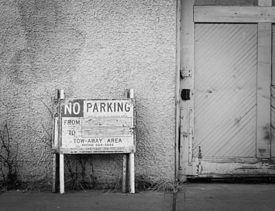No Parking Poster by John Rossman