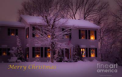 No Place Like Home Christmas Card Poster by Wayne Moran