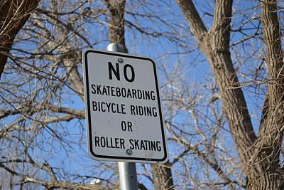 No Skating Poster
