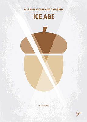 No041 My Ice Age Minimal Movie Poster Poster by Chungkong Art
