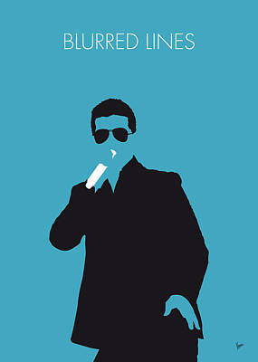 No055 My Robin Thicke Minimal Music Poster Poster by Chungkong Art