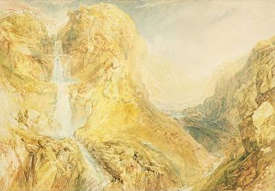 No.0571 Mossdale Fall, Yorkshire Poster by Joseph Mallord William Turner