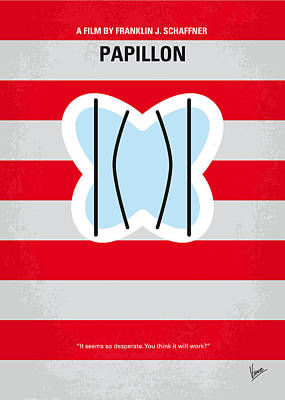 No098 My Papillon Minimal Movie Poster Poster