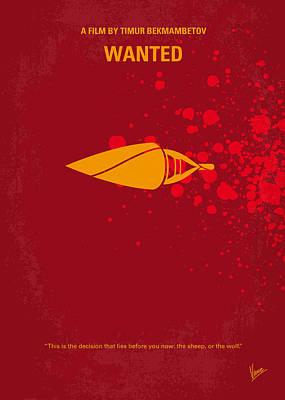 No176 My Wanted Minimal Movie Poster Poster by Chungkong Art