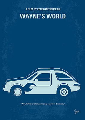 No211 My Waynes World Minimal Movie Poster Poster by Chungkong Art