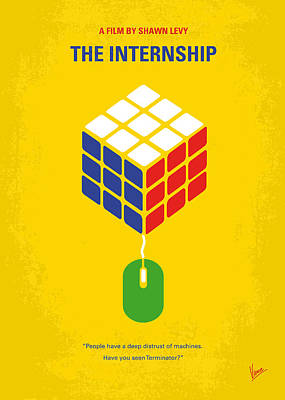 No215 My The Internship Minimal Movie Poster Poster by Chungkong Art