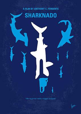 No216 My Sharknado Minimal Movie Poster Poster by Chungkong Art