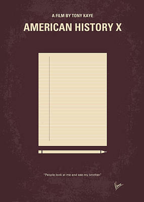 No247 My American History X Minimal Movie Poster Poster by Chungkong Art