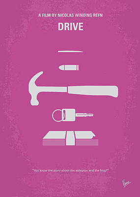 No258 My Drive Minimal Movie Poster Poster by Chungkong Art