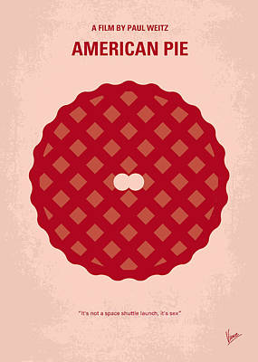 No262 My American Pie Minimal Movie Poster Poster by Chungkong Art