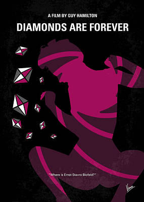 No277-007 My Diamonds Are Forever Minimal Movie Poster Poster by Chungkong Art