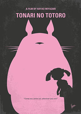No290 My My Neighbor Totoro Minimal Movie Poster Poster by Chungkong Art