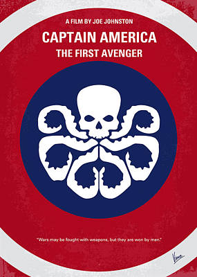 No329 My Captain America - 1 Minimal Movie Poster Poster