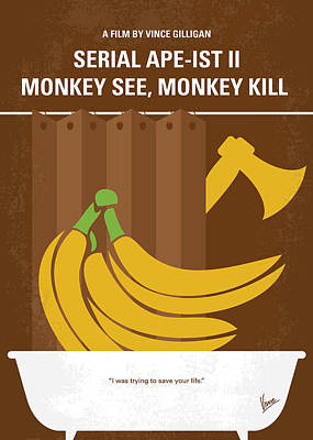 No356 My Serial Ape-ist Minimal Movie Poster Poster by Chungkong Art