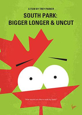 No364 My Bigger Longer Uncut Minimal Movie Poster Poster by Chungkong Art