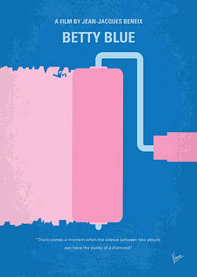 No359 My Betty Blue Minimal Movie Poster Poster by Chungkong Art