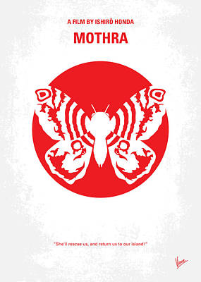 No391 My Mothra Minimal Movie Poster Poster