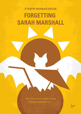 No393 My Forgetting Sarah Marshall Minimal Movie Poster Poster by Chungkong Art