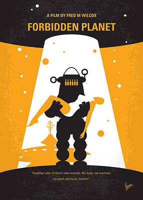 No415 My Forbidden Planet Minimal Movie Poster Poster by Chungkong Art