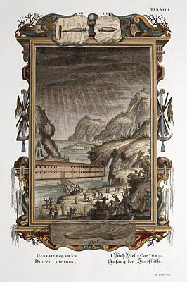 Noahs Ark And Flood, Scheuchzer, 1731 Poster by Paul D. Stewart