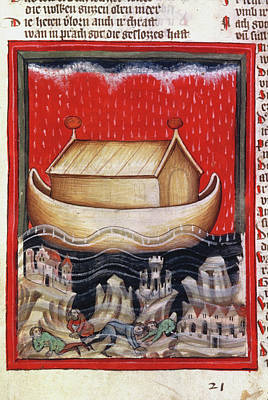 Noah's Ark And The Flood German Ms Poster by Granger