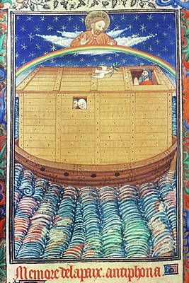 Noah's Ark With Rainbow Poster by Granger