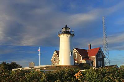 Nobska Lighthouse Cape Cod Poster by John Burk