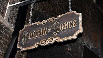 Noggin And Bonce Sign  Poster