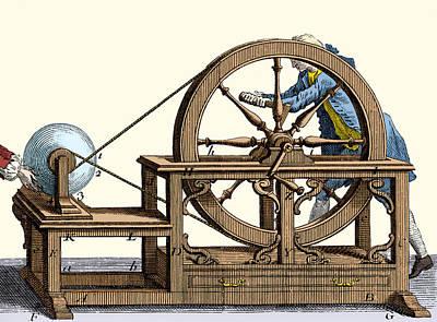 Nollet Electrostatic Machine, 1750 Poster