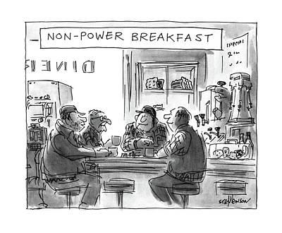 Non-power Breakfast Poster by James Stevenson