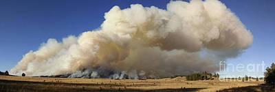 Norbeck Prescribed Fire Smoke Column Poster by Bill Gabbert