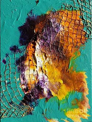 Poster featuring the painting Nordic Abstract by Susanne Baumann