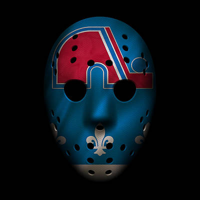 Nordiques Jersey Mask Poster by Joe Hamilton