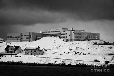 Nordkapp Maritime College And High School Overlooking Honningsvag Harbour Finnmark Norway Europe Poster by Joe Fox