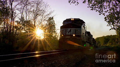 Norfolk And Southern At Sunset Poster